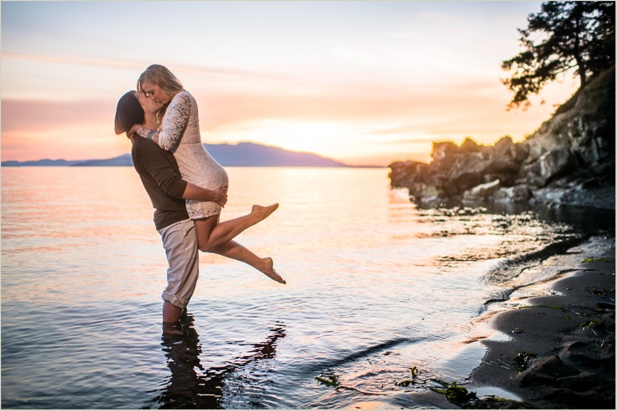 Chuckanut Sunset Engagement Photos