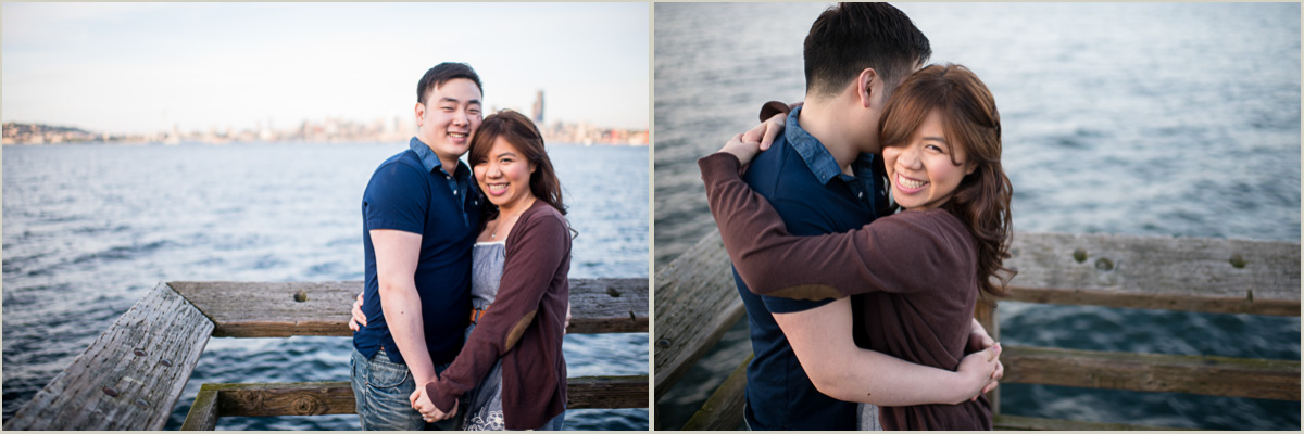Engagement Session on Alki Beach Warf