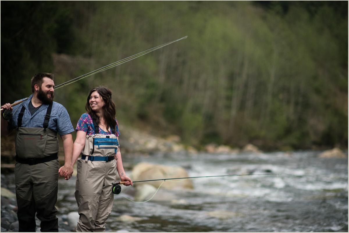 Fly Fishing on Nooksack River Washington