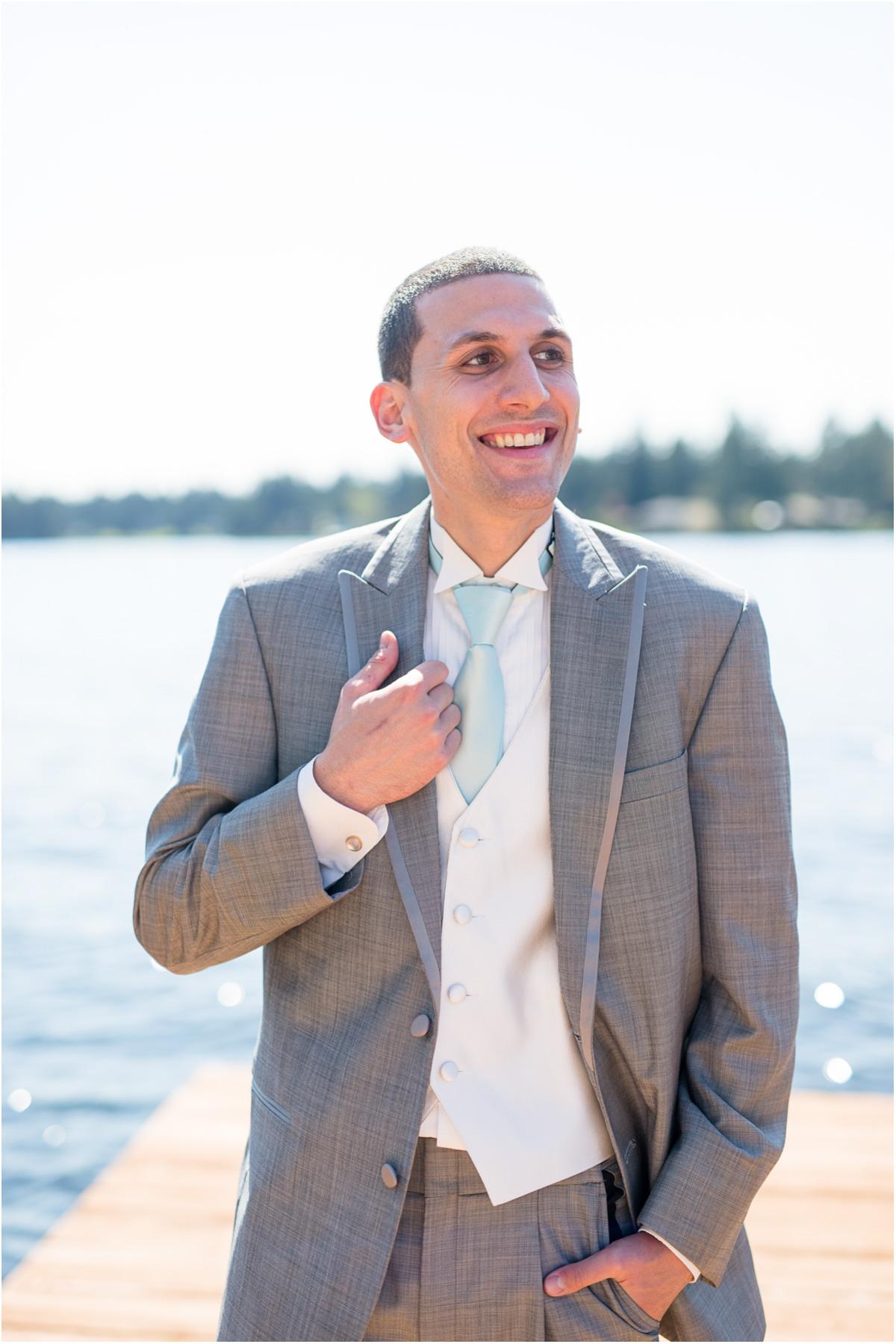 GQ Groom Portraits Lakeside Wedding