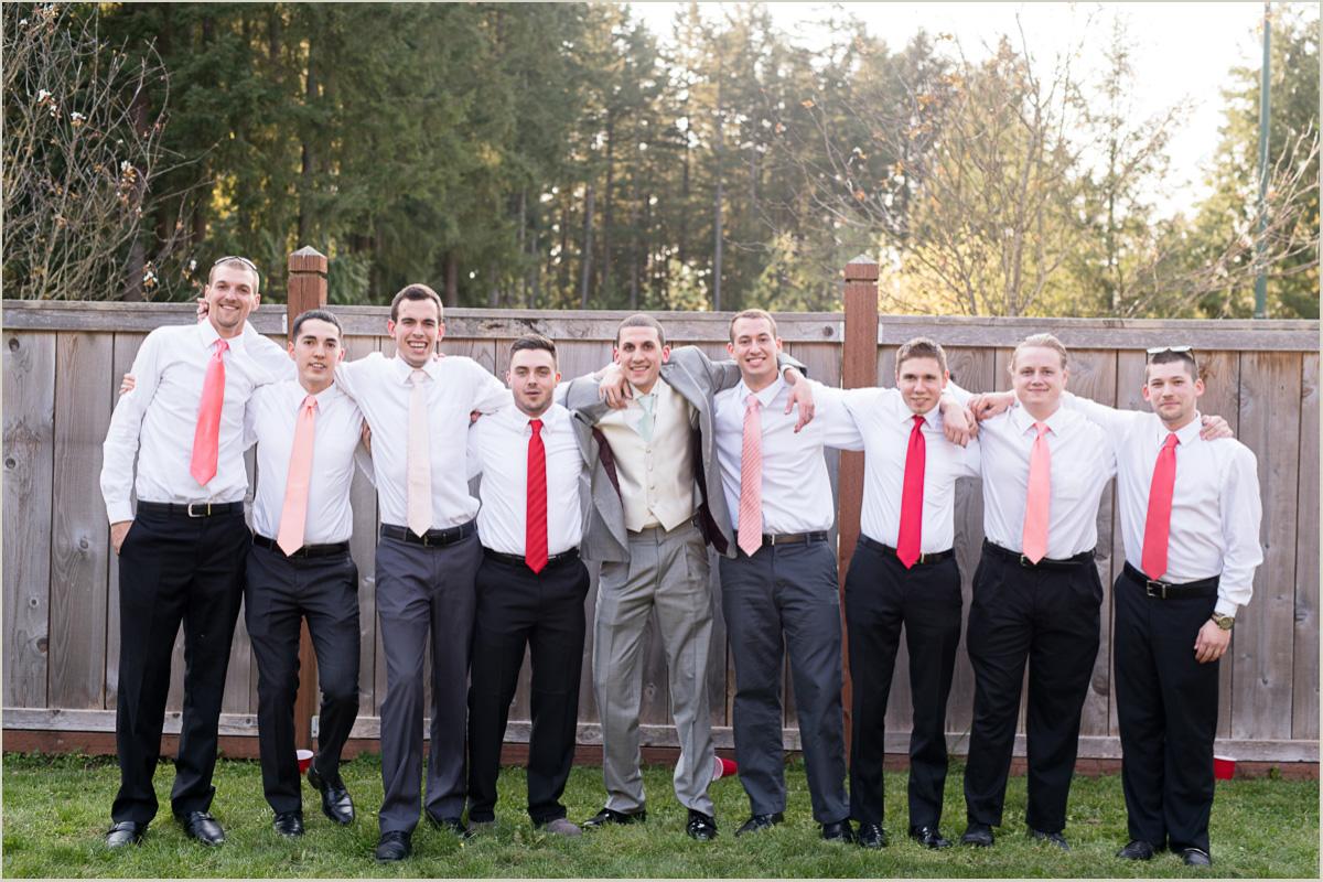 Groom and Groomsmen Maple Valley Wedding