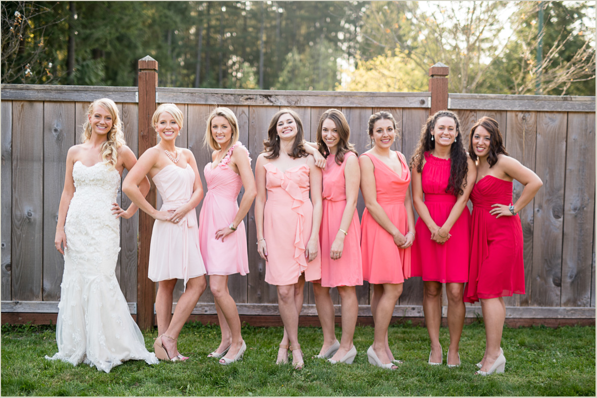 Ombre Bridesmaids Dresses Spring Maple Valley Wedding