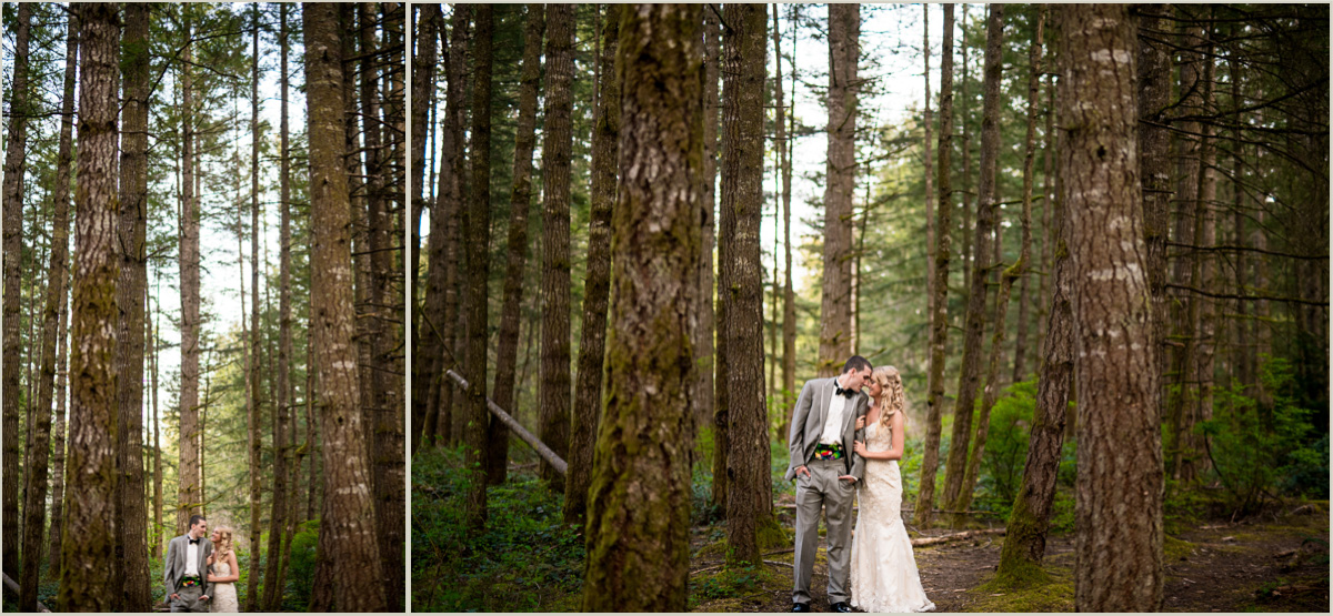Romantic Woodsy Bride and Groom Portraits