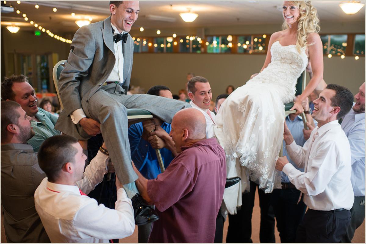 Traditional Hora Dance Washington Wedding Photographers