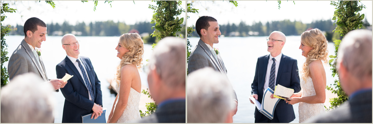 Wedding Vows Lakeside Wedding in Black Diamond Washington
