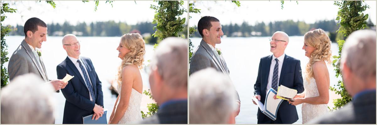 Wedding Vows Lakeside Wedding in Black Diamond Washington
