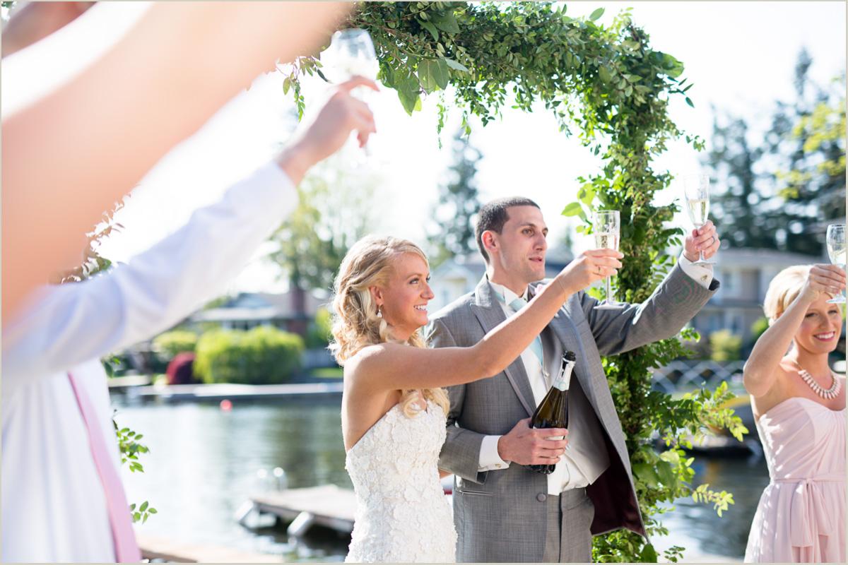 backyard wedding day toasts