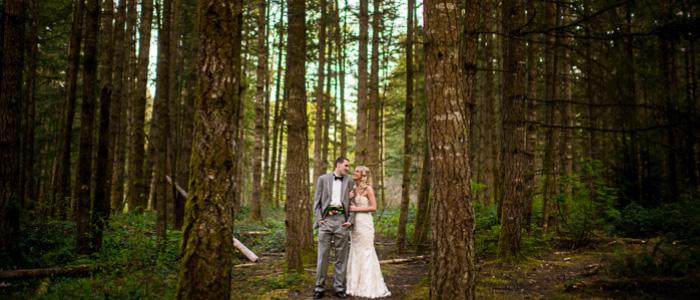 Intimate Backyard Lake Sawyer Wedding | Seattle Wedding Photographers