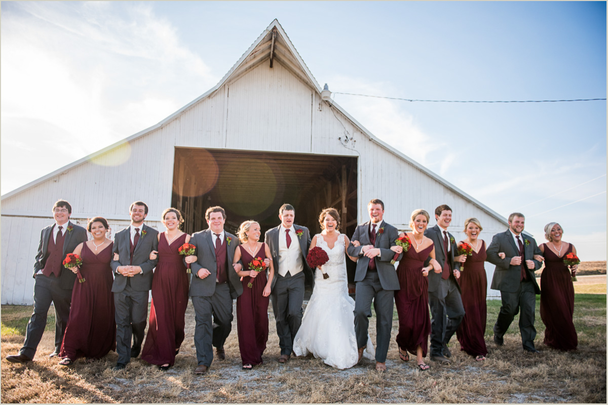 schedule time for fun bridal party photos after your ceremony