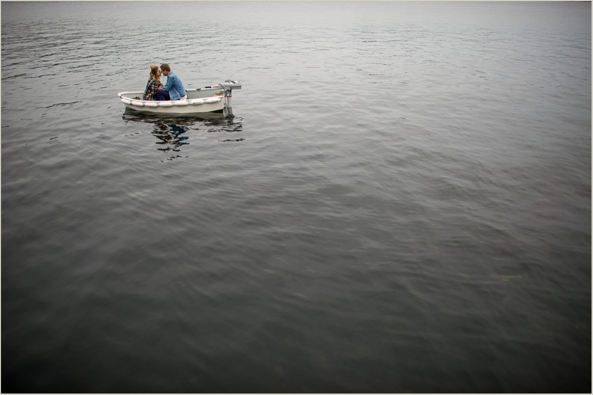 Adventure Engagement Session on a boat Seattle Wedding Photographers