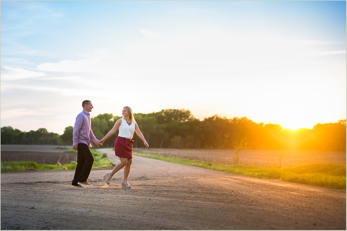 Country Engagement Session on a Midwest Farm Washington Wedding Photographers