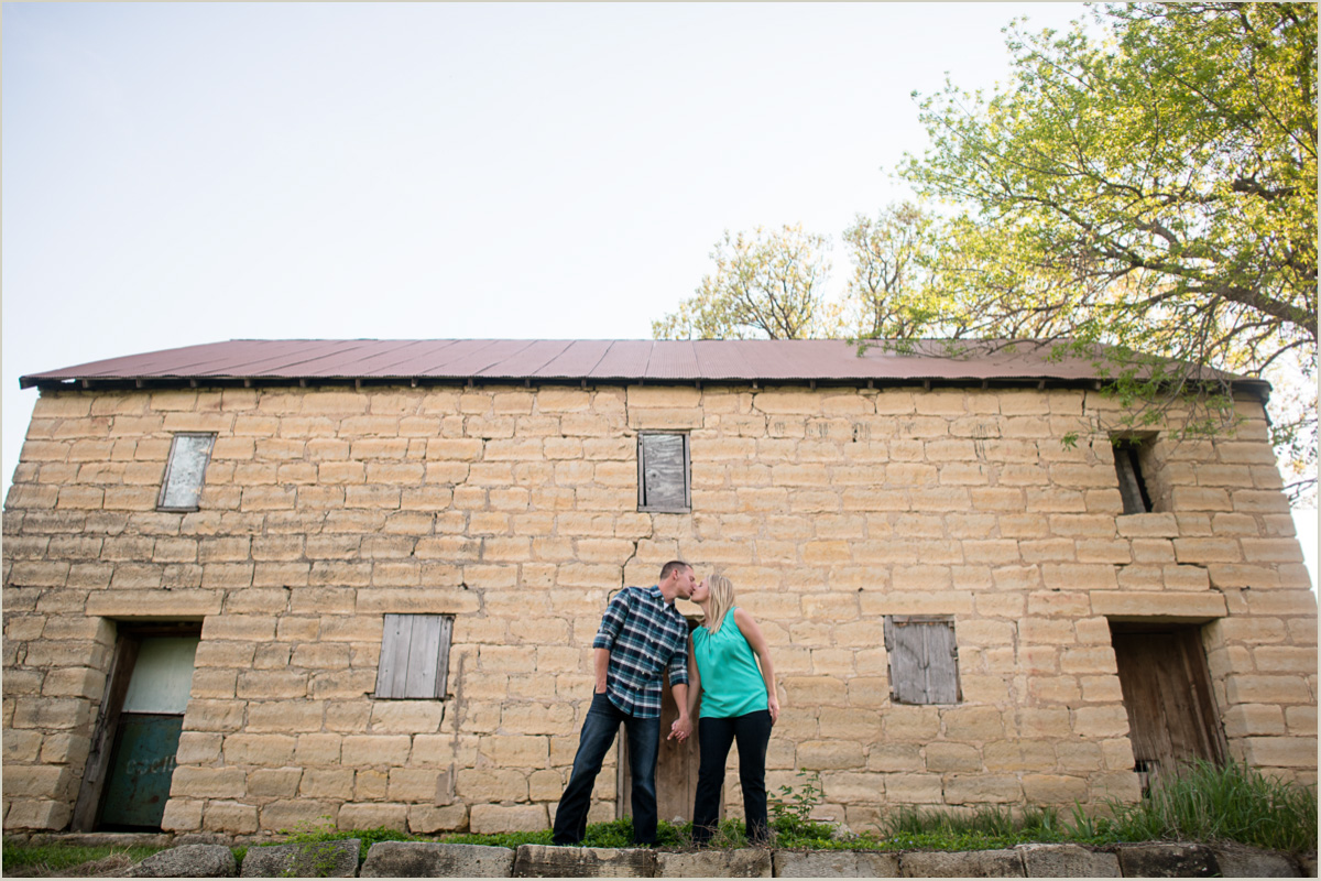 Family Farm Engagement Session in Kansas