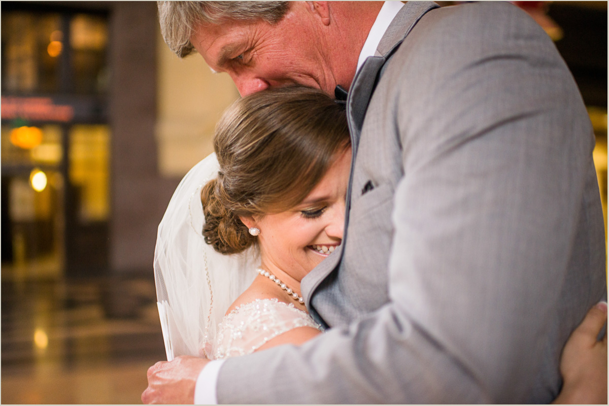 Father First Look Reaction to Bride on her Wedding Day