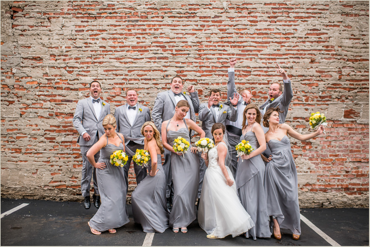 Fun Bridal Party Photos Kansas City Wedding
