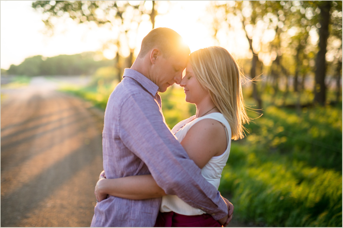 Kansas Sunset Engagement Session Traveling Wedding Photographers