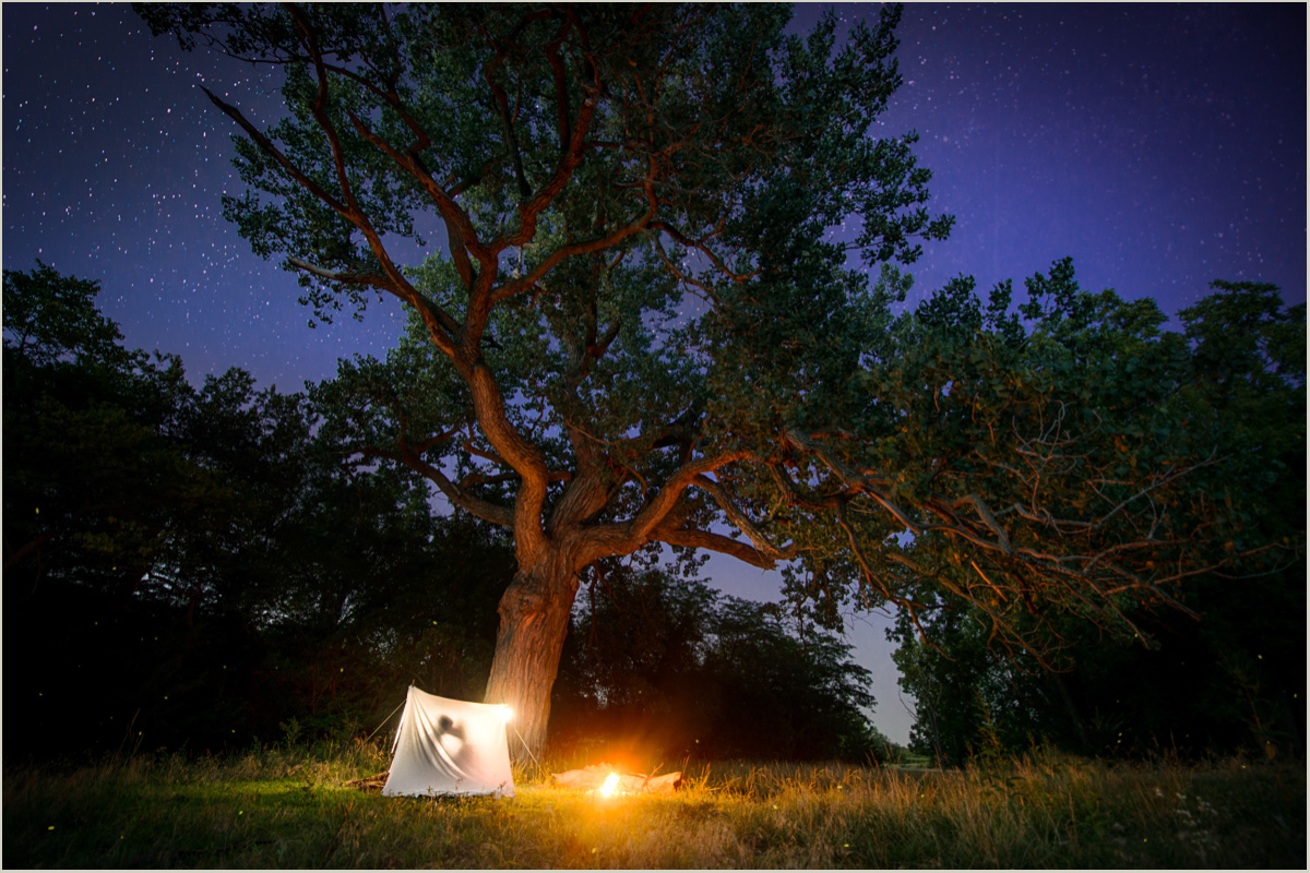 Night Time Adventure Photography Camping Engagement Session
