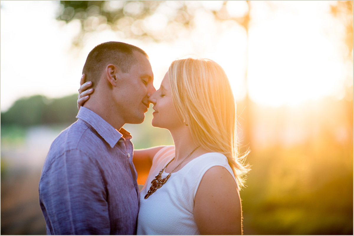 Romantic Engagement Session Kansas Wedding Photographers
