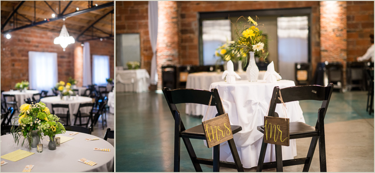 Spring Yellow and Grey Wedding at The Promise