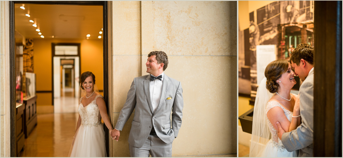 Union Station Kansas City Wedding First Look