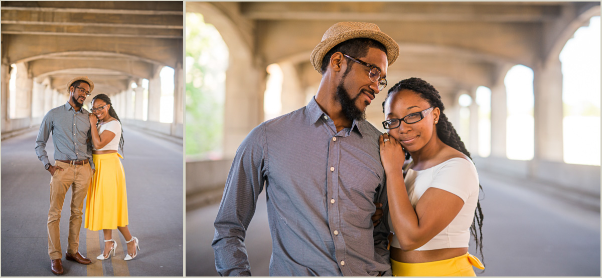 Vintage Engagement Session in the Kansas City West Bottoms
