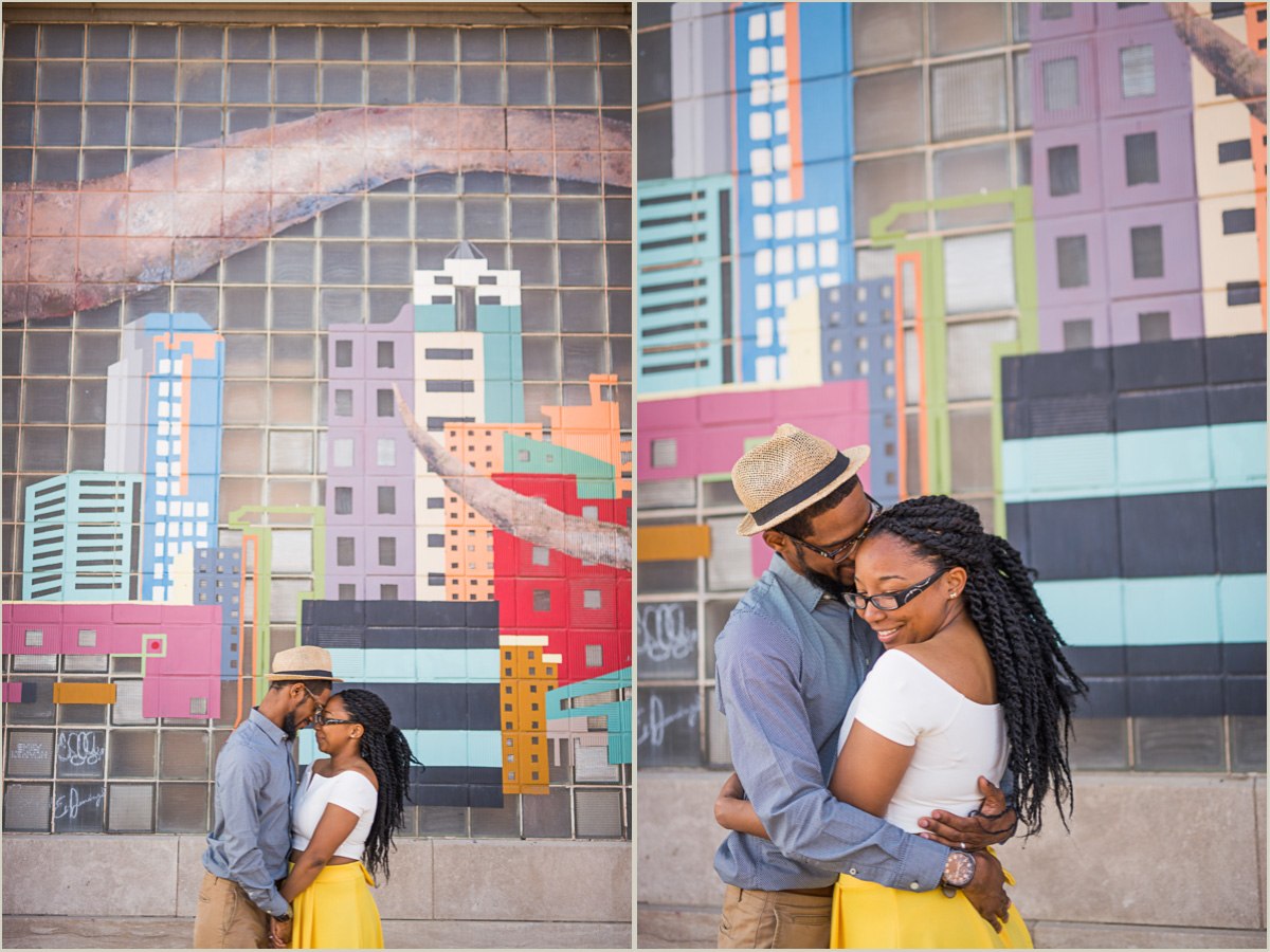 West Bottoms Kansas City Mural Couples Photos