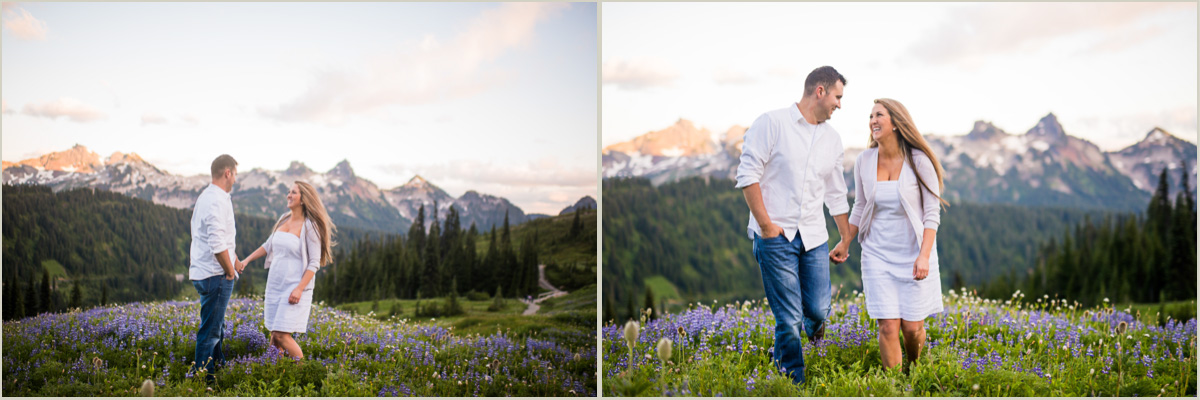 Engagement Session in the Cascades Washington Adventure Photographers