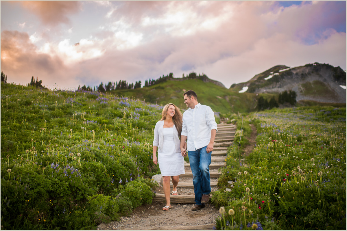 Mount Rainier Engagement Session at Paradise Salt and Pine Seattle Wedding Photographers