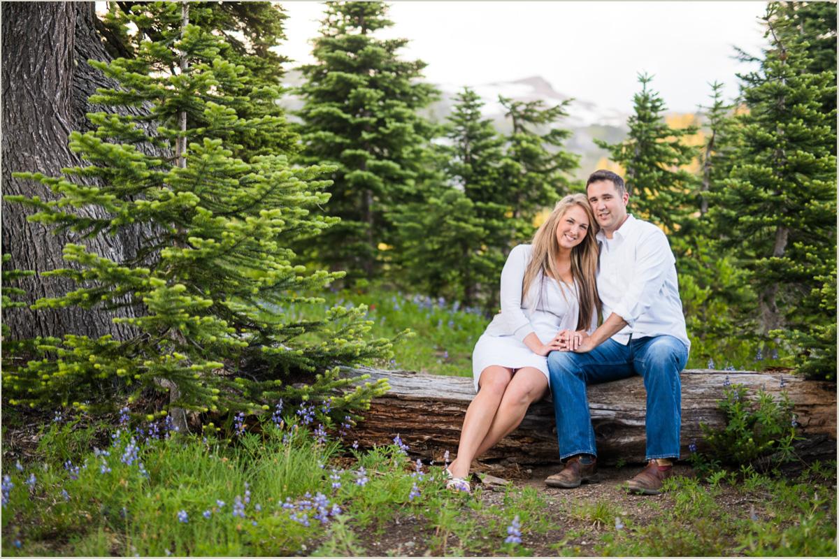 Mount Rainier National Park Adventure Engagement Photos
