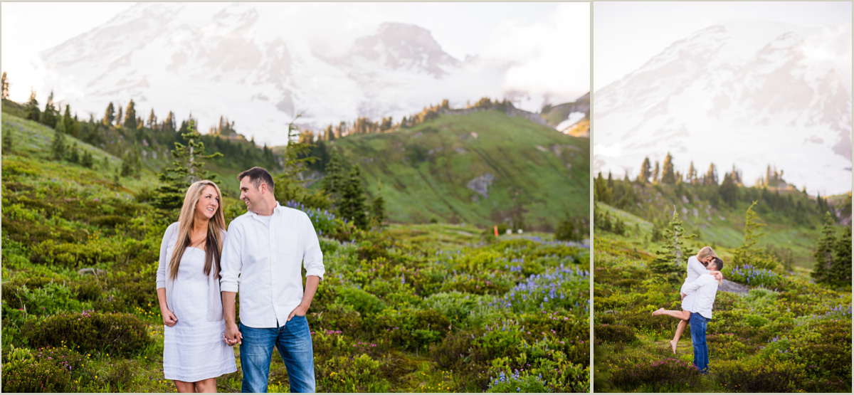 Mountain Engagement Session in Washington