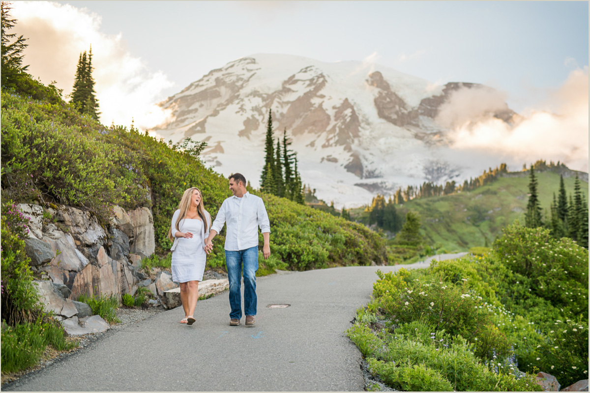 Paradise Wildflower Meadow Engagement Photos