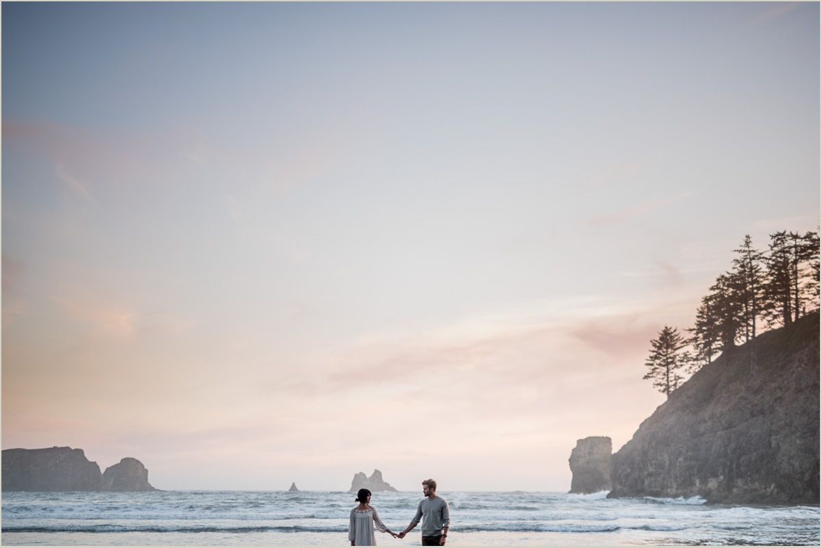 Adventure Engagement Photos at Second Beach