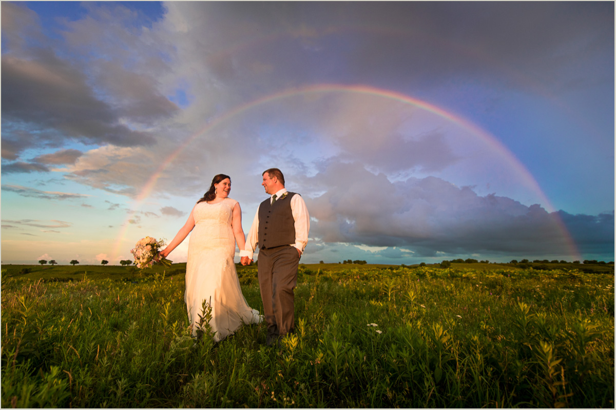 Bride and Groom Photos With Rainbow