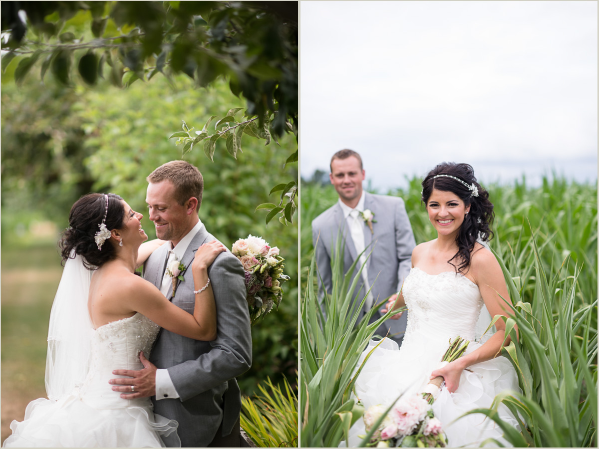 Bride and Groom Portraits at Maplehurst Farms