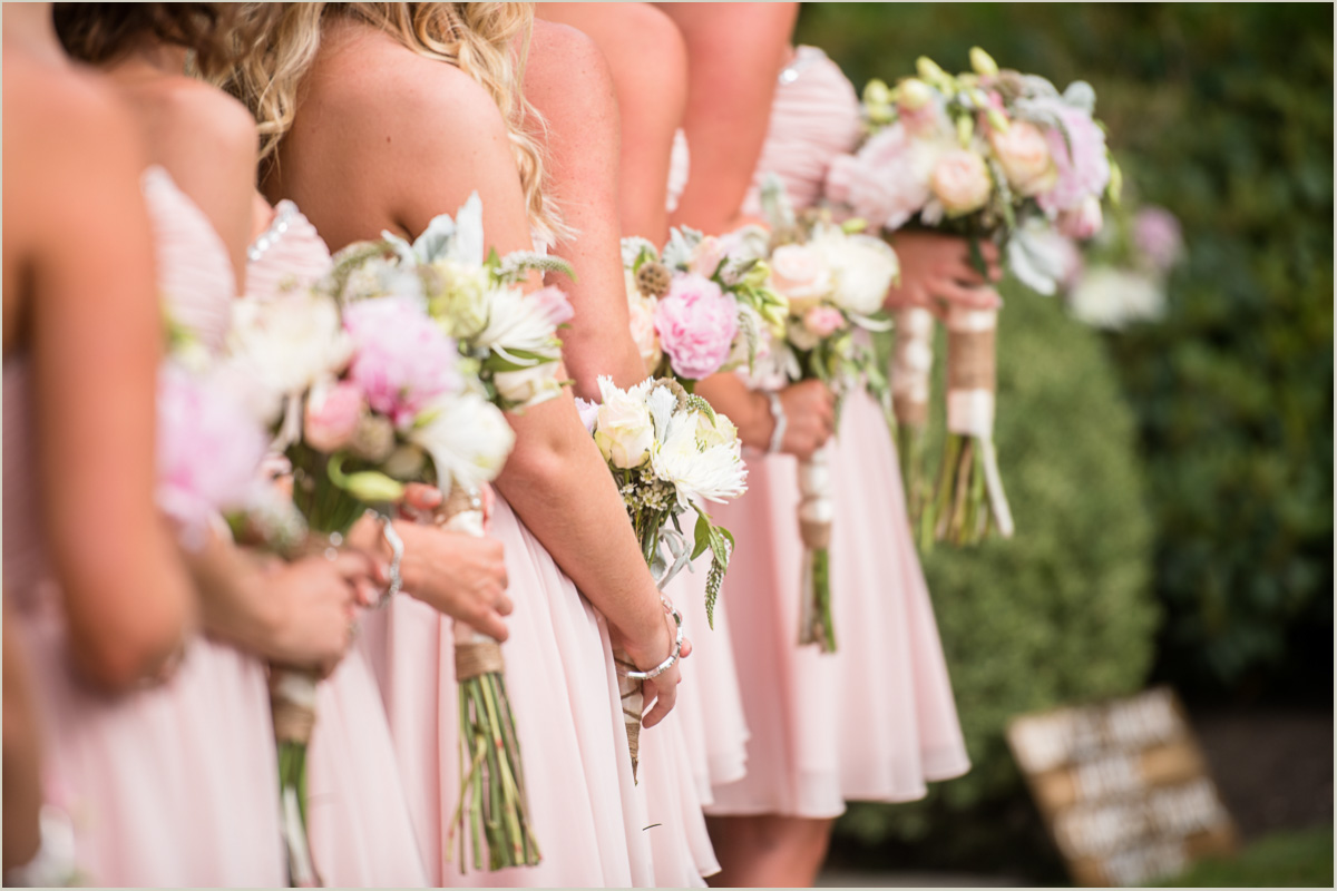 Bridesmaids Pink Bouquets