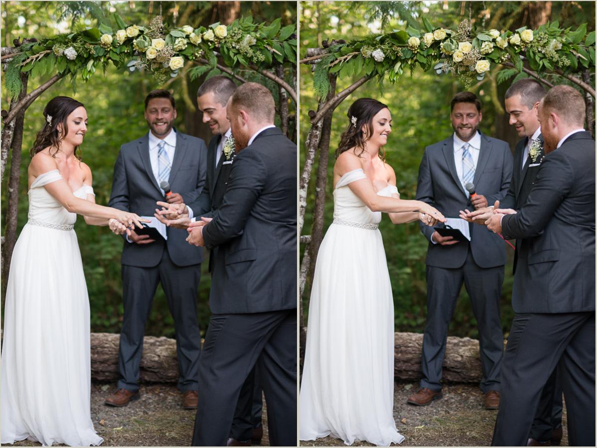 Couple Plays Rock Paper Scissors During Wedding Ceremony