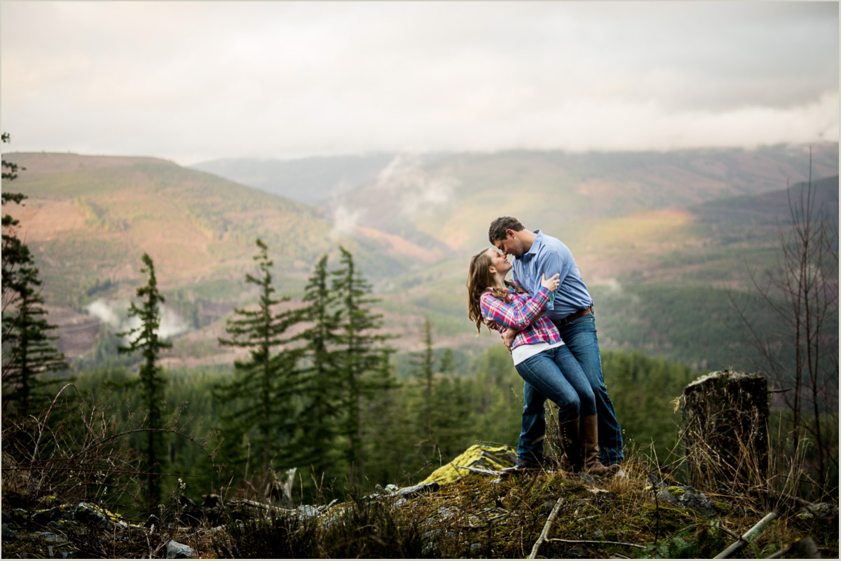 Engagement Photos on a Mountain