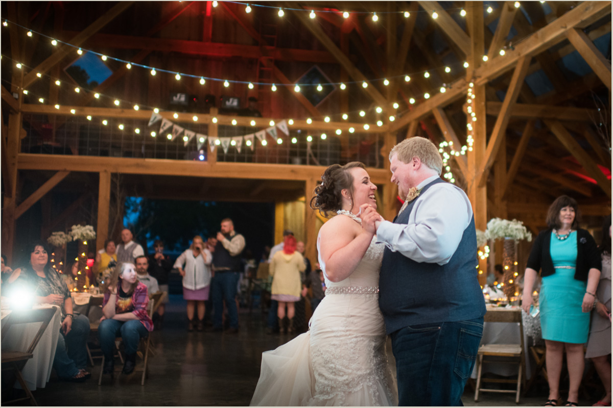 First Dance at Barn Wedding Kansas City Wedding Photographers