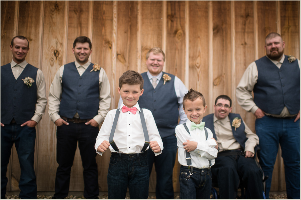 Fun Ring Bearers in Suspenders