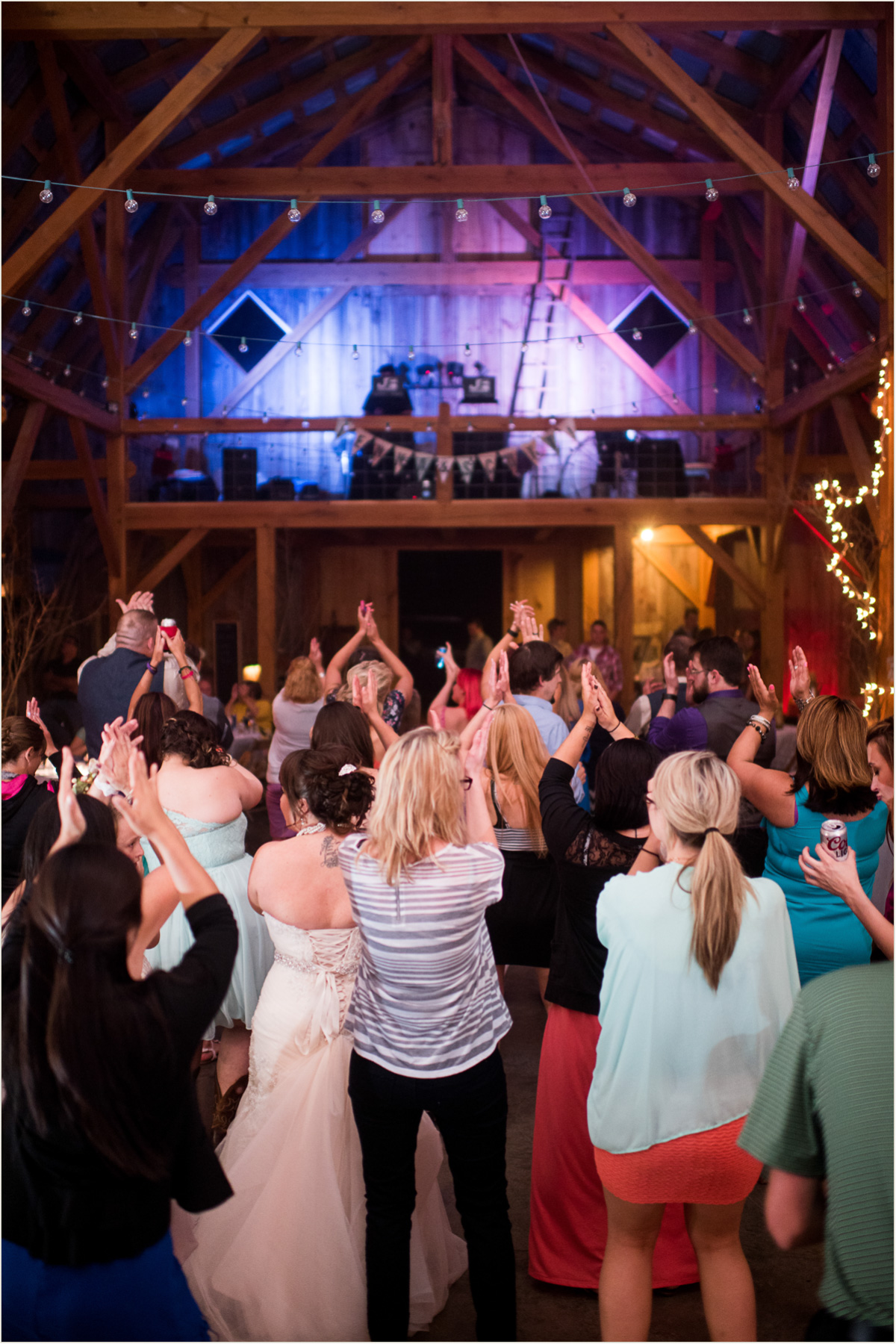 JF Productions Wedding DJ at Schwinn Produce Farm Kansas City Wedding