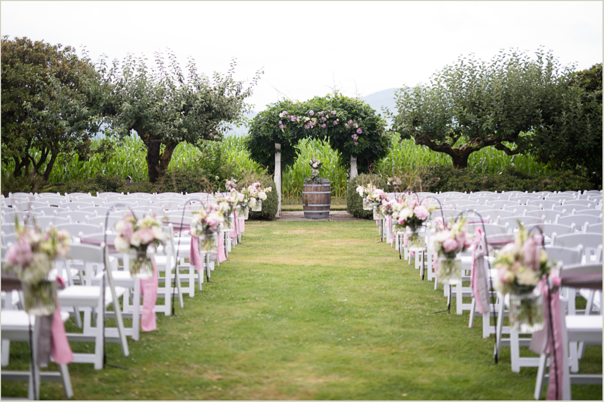 Maplehurst Farm Wedding Ceremony Set Up