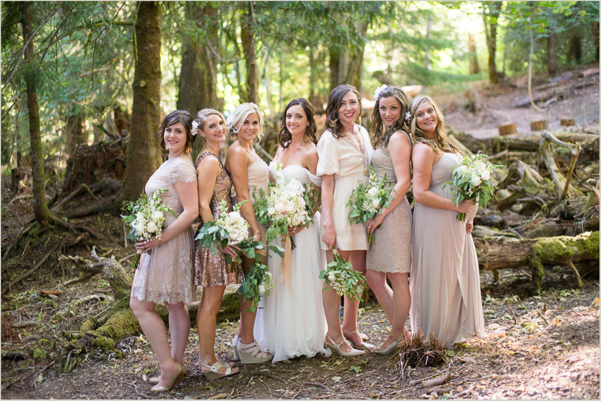 Perfectly Mismatched Bridesmaids Dresses