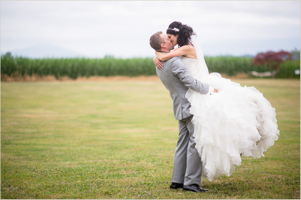 Romantic Bride and Groom Portraits Maplehurst Farm Wedding