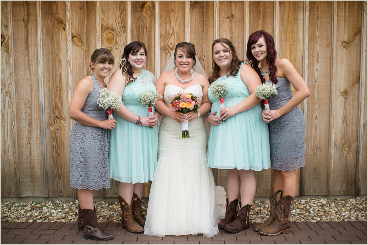 Rustic Barn Wedding Bridesmaids