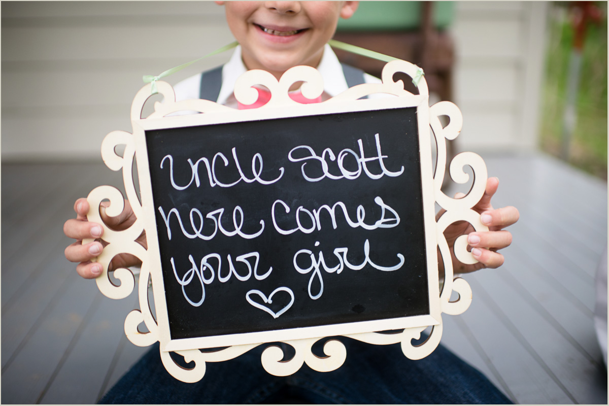 Rustic Barn Wedding Sign Here Comes Your Girl