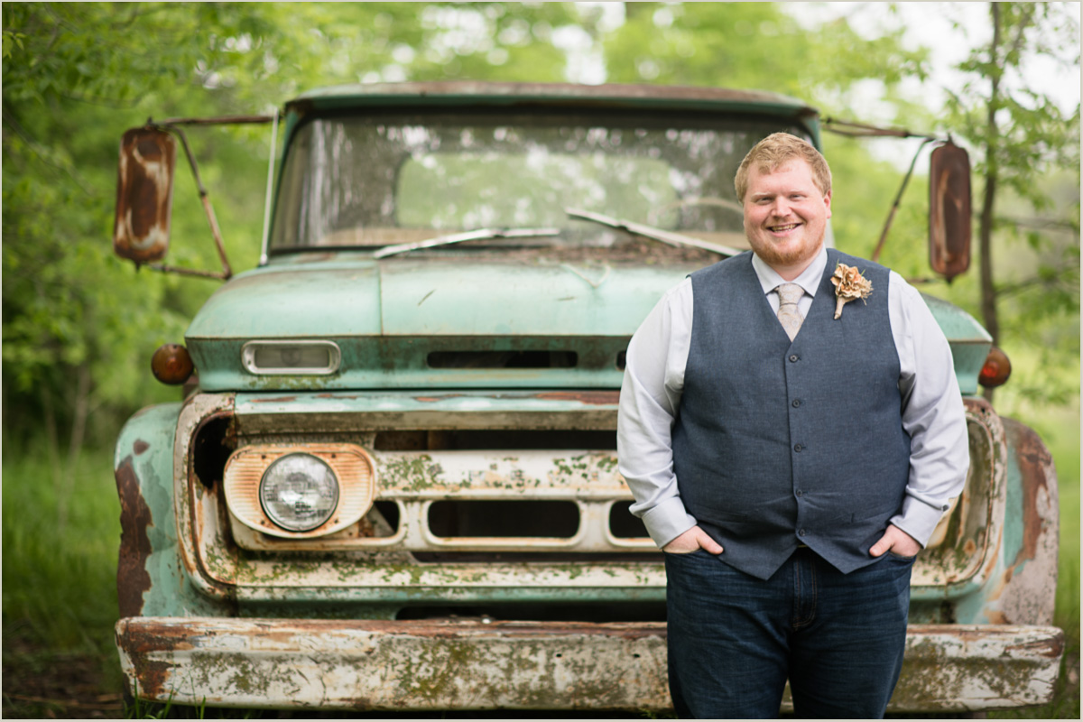 Rustic Groom Farm Wedding in Kansas City