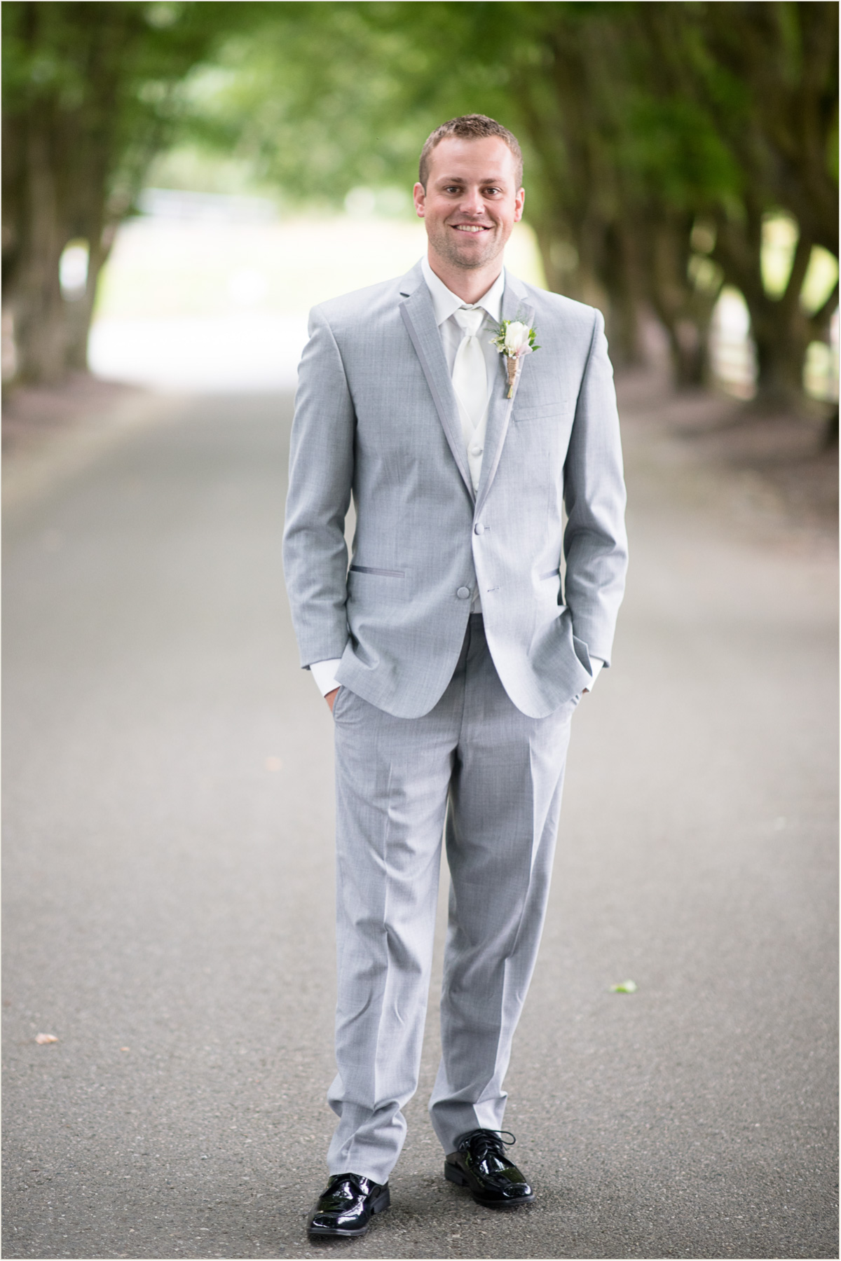 Rustic Groom on Wedding Day