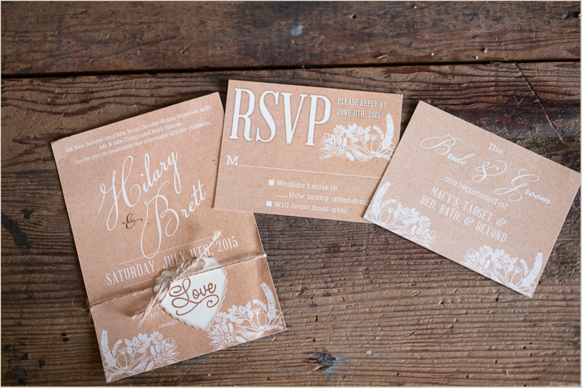 Rustic Wedding Invitations for Wedding at Maplehurst Farm Mount Vernon Wedding