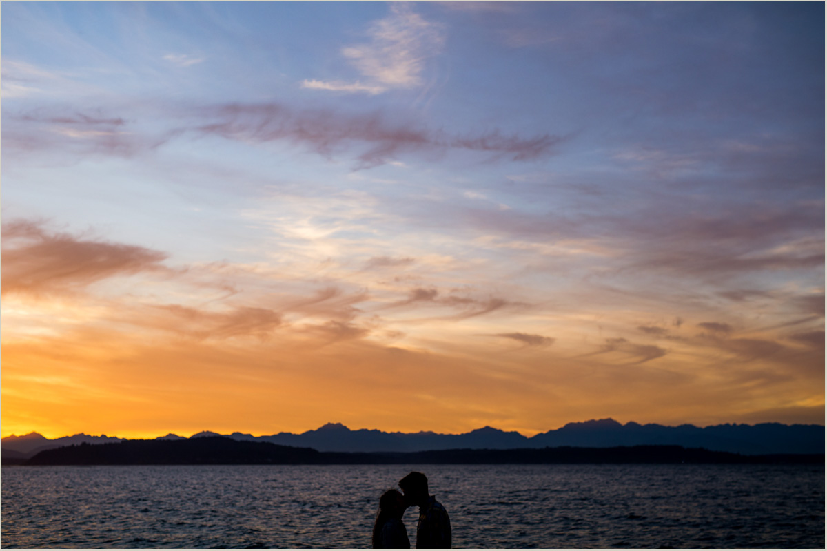 Seattle Engagement Session on Alki Beach