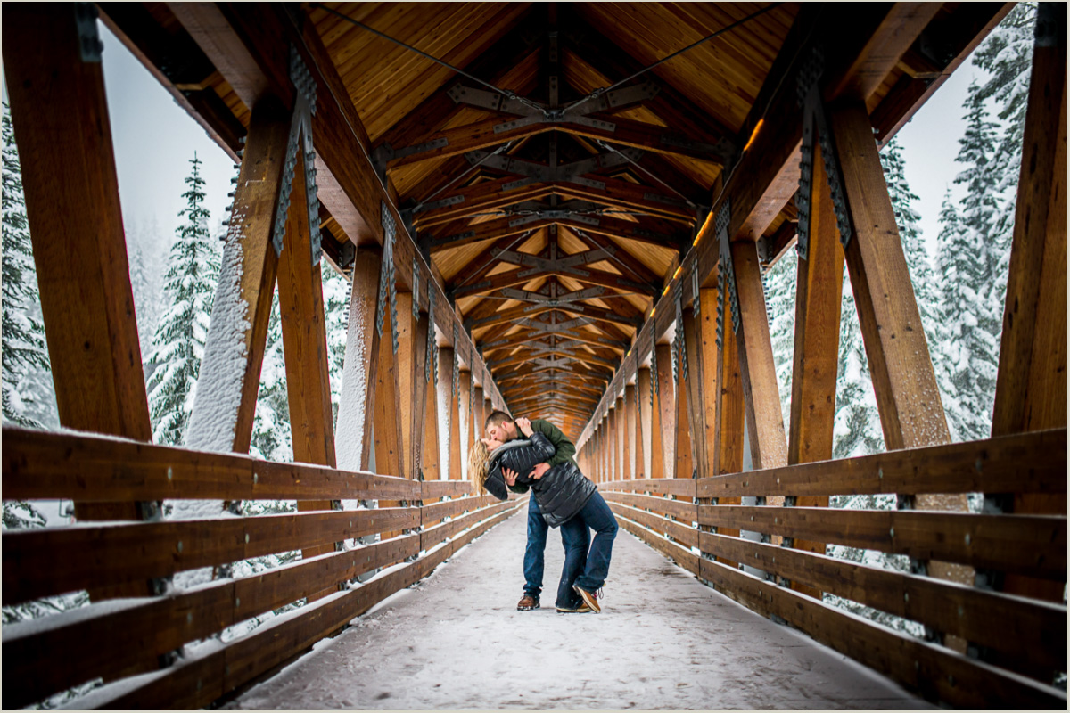 Snowy Winter Engagement Photos at Alpental