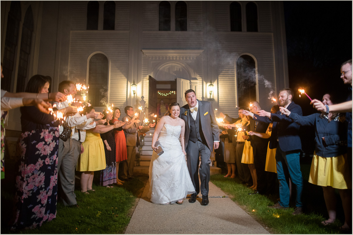 Sparkler Exit Wedding Photos